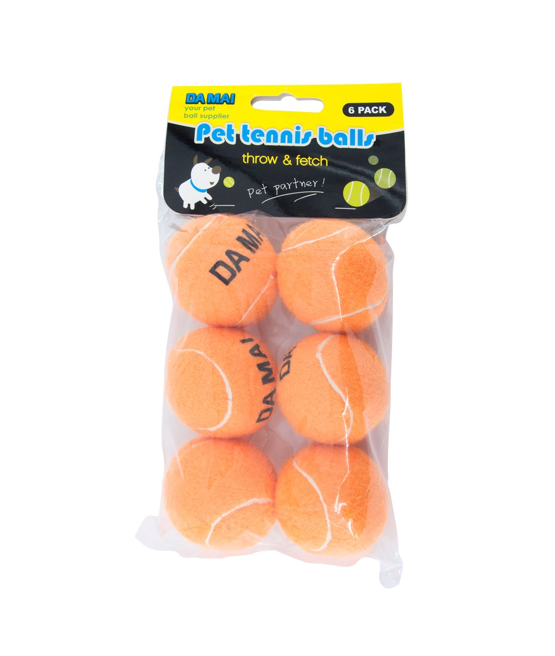 2.5\ Da Mai 2.5inch orange Tennis Ball for Sports and Pet Toys Dogs Outdoor Sports Cricket (2.5 )