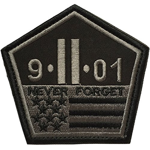 SpaceCar Never Forget The September 11 Attacks The Pentagon 9/11 Nation Tactical Army Morale Desert Badge Hook & Loop Embroidery Emblem Patch 3.42
