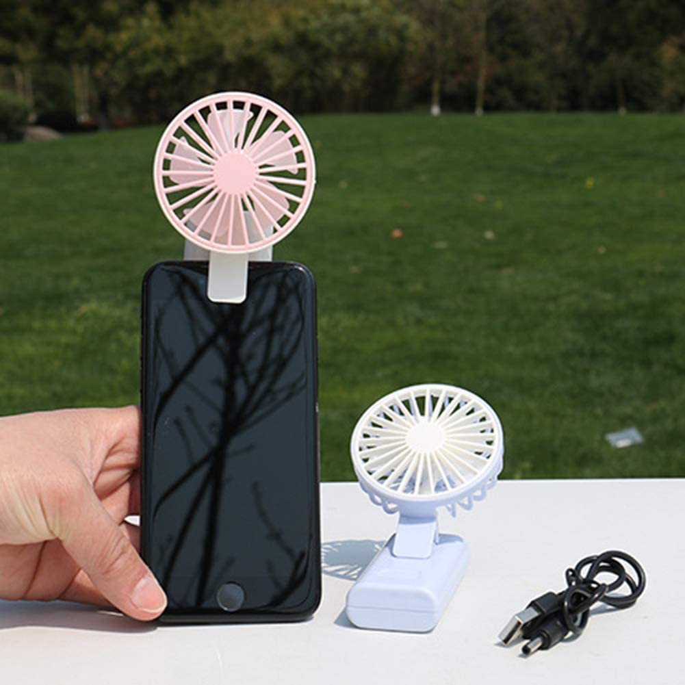 Green LLQUS USB Phone Clip Fan Rechargeable Battery Handheld Fan Mini Portable Fans for Office Outdoor Household Traveling