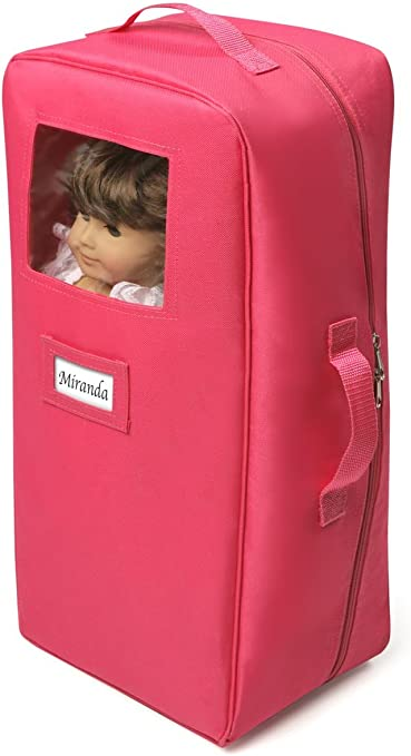 """Kids Girls Double Doll Travel Case w//Bunk Bed /& Bedding For 18/"""" Inch Dolls 9925"""