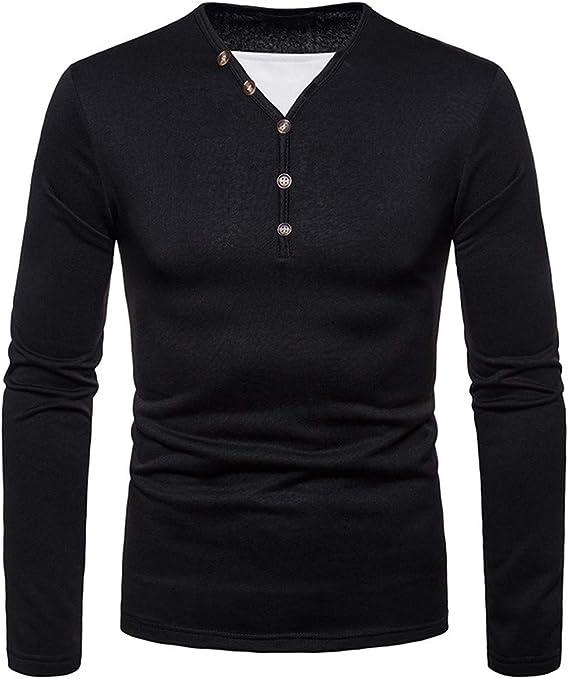 VPASS Camiseta para Hombre, Verano El botón Cuello v Camisetas ...