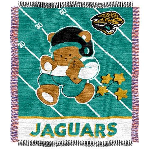 NFL Jacksonville Jaguars Woven Jacquard Baby Throw Blanket