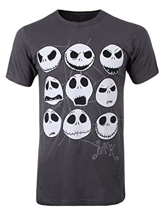 Amazon.com: The Nightmare Before Christmas Jack Faces Men's ...