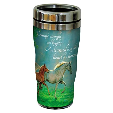 Courage, Strength, Loyalty Horse Travel Mug