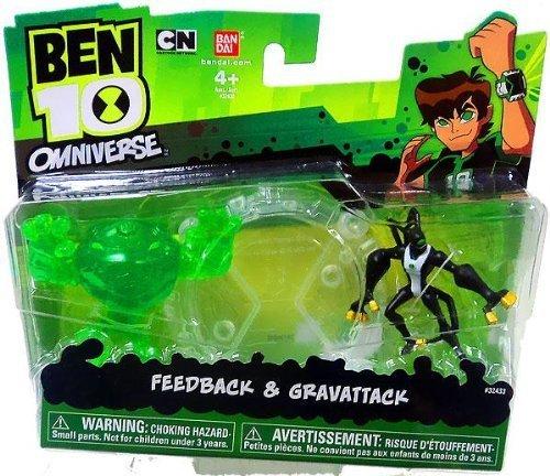 Ben 10 Omniverse Feedback & Gravattack Action Figure