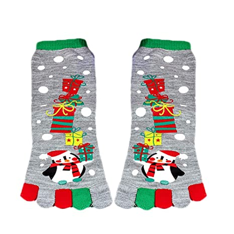 Cinco Dedos Calcetines de Navidad, Childrens Baby Boy o niña y Adultos Cosy