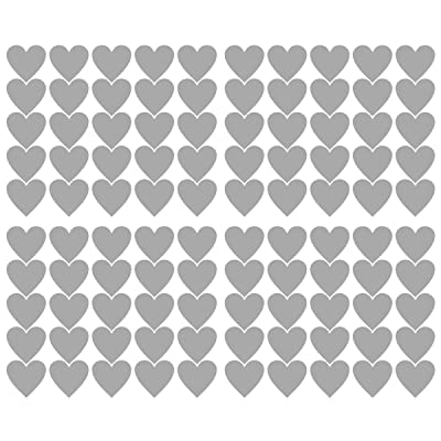 2 inch x100 Pieces DIY Heart Wall Decal Vinyl Sticker for Baby Kids Children Boy Girl Bedroom Decor Removable Nursery Decoration (Gray): Arts, Crafts & Sewing [5Bkhe0802392]
