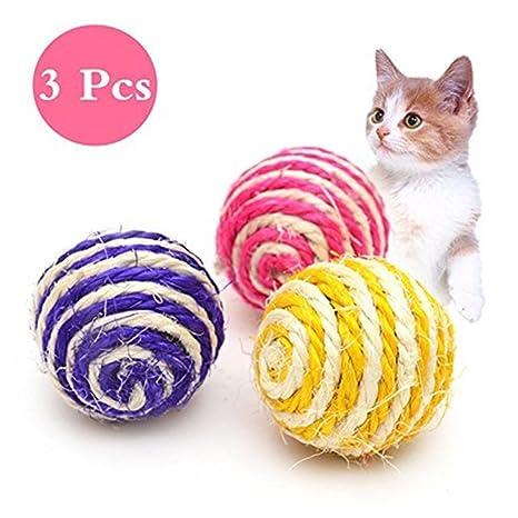 Namgiy Pelota de juguete para gatos, juguetes para gatos, perros y ...