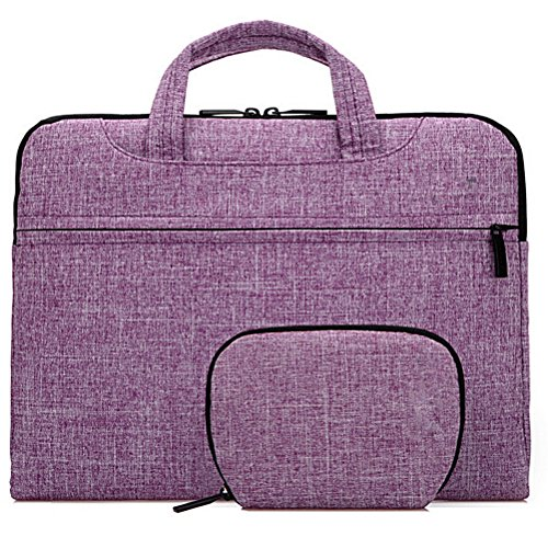 Samaz Netbook Laptop Macbook Sleeve Case Carry Bag Pouch Message Bags for MAC 13 14 15 inch Pro Air Retina. (Purple, 13/13.3 inch laptop)