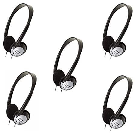 Panasonic RP-HT21 Lightweight Headphones with XBS 5 Pack