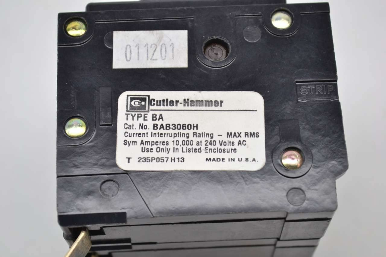 EATON CUTLER HAMMER BAB3030H 30A 3P  CIRCUIT BREAKER TYPE BA NEW NO BOX