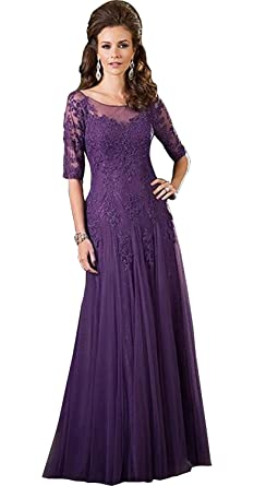 Purple Mother of the Groom Dresses for Bride