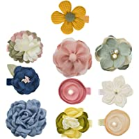 Beaupretty 10PCS Baby Bows Flowers Hair Clips Baby Girls Spring Flower Hairpins Barrettes Bang Side Clips for Girls Toddlers