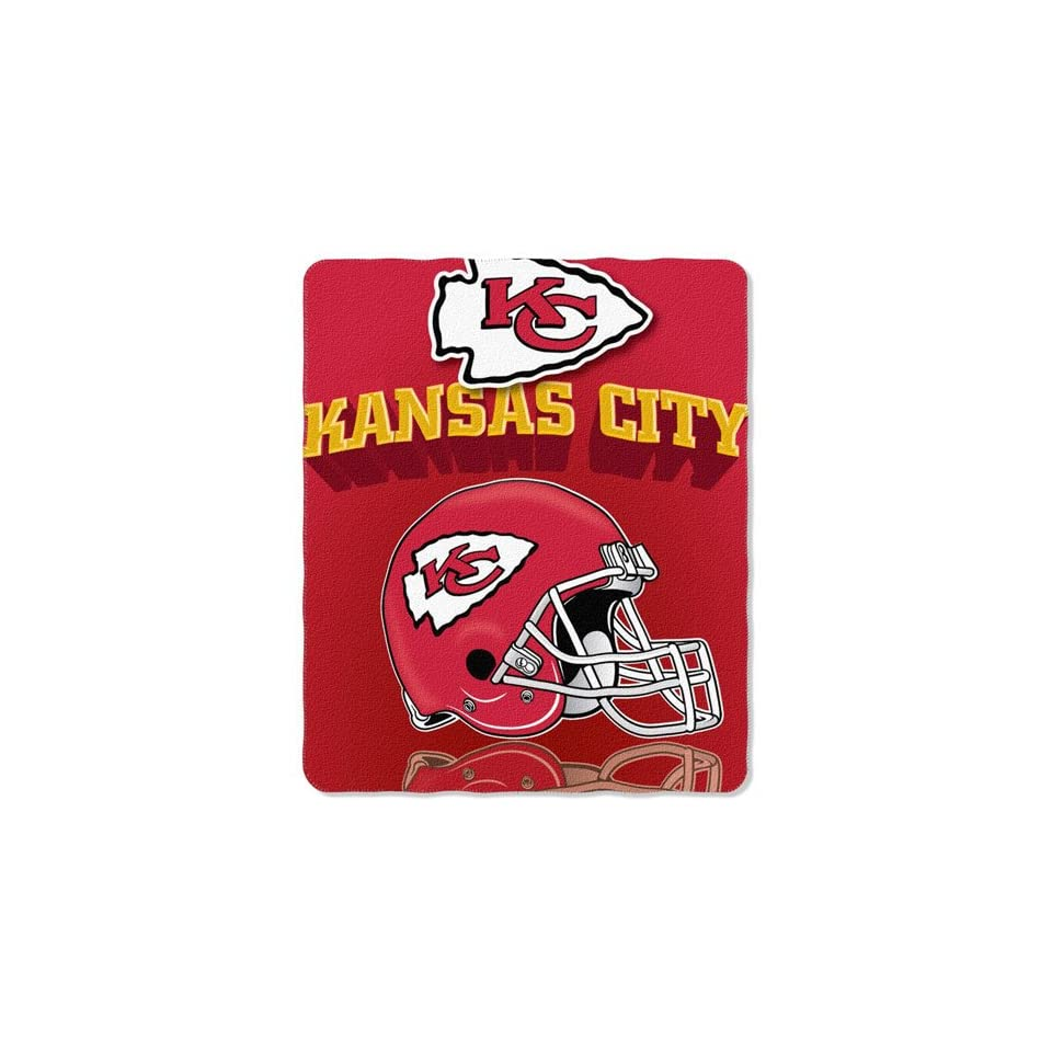 Kansas City Chiefs NFL Light Weight Fleece Blanket Grid Iron 50x60'' Kansas City Chiefs NFL Light W Sports & Outdoors