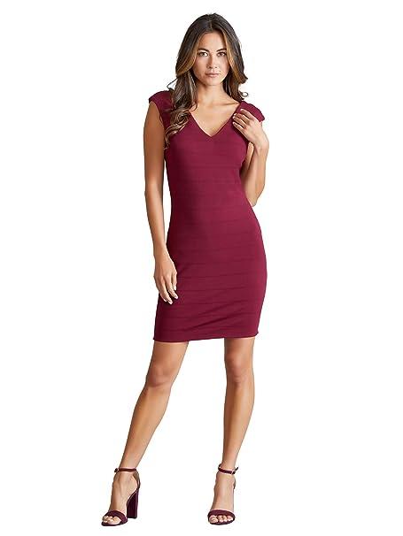 Mela - Vestido - para Mujer Rojo Granate 36