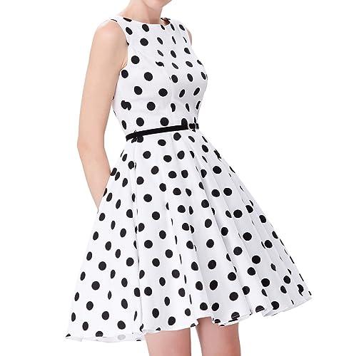 GRACE KARIN Women's 1950's Sleeveless Swing Vintage Dresses JS6086