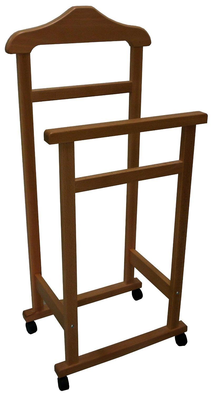 appendiabiti indossatore porta abiti in legno naturale servo muto ... - Appendiabiti Da Camera Da Letto