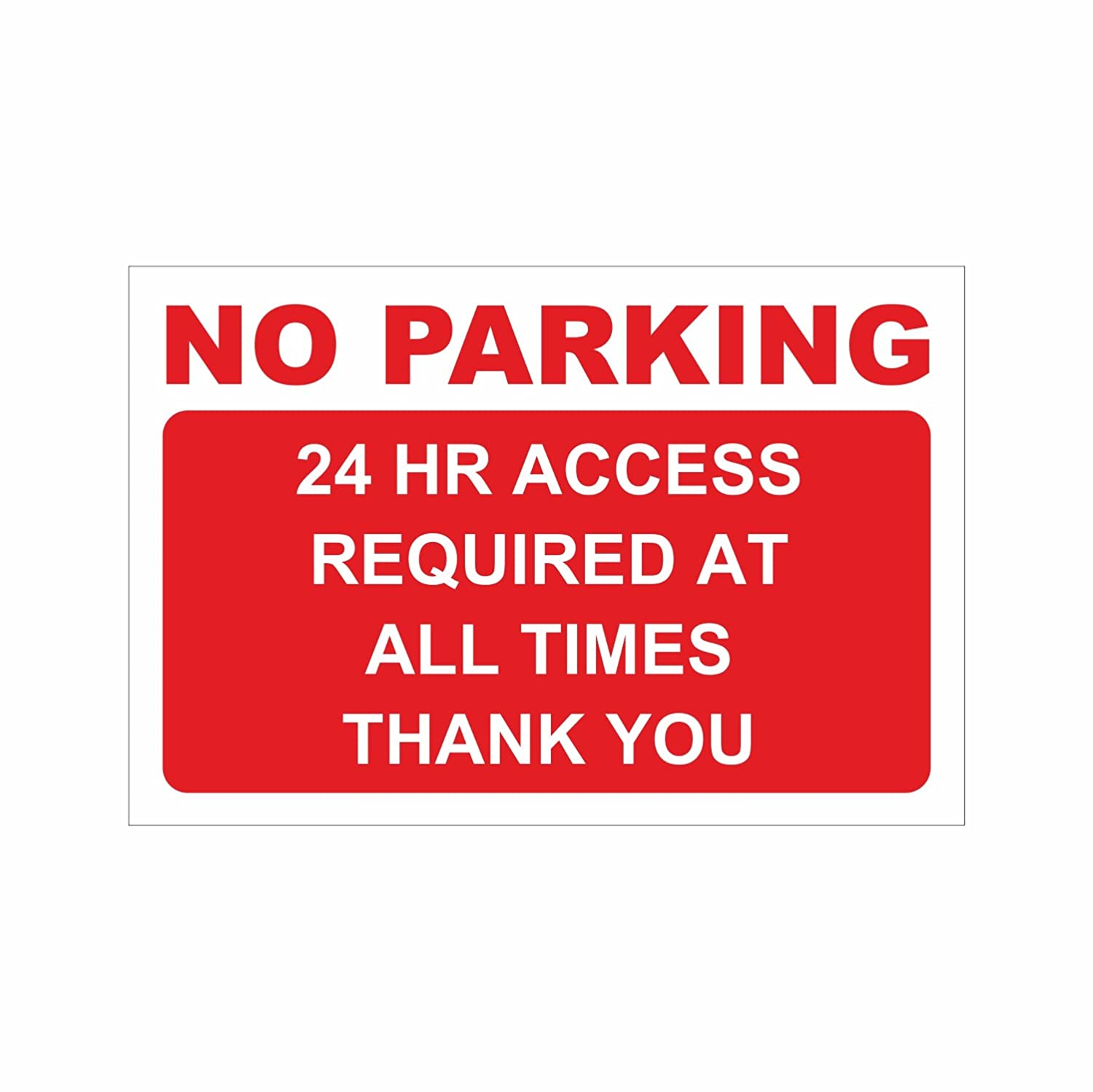NO PARKING Sign - Large Self-Adhesive Sticker - Access Required - Private Property, Parking, Clamping, Disabled, Driveway, Do not block (24 H Access Required) Vacom Advertising Ltd