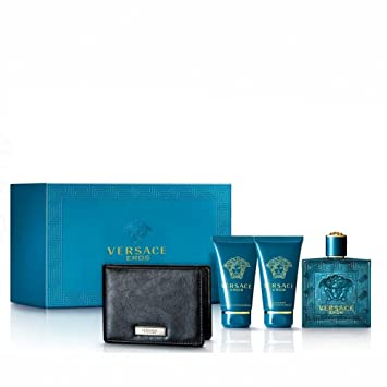 Amazon.com : Versace Eros Eau de Toilette Spray Gift Set, 4 Count ...