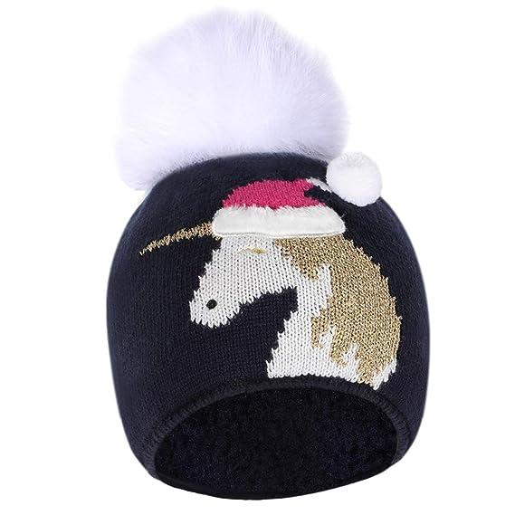 Tacobear Cappello Pom Beanie Bambino Unicorno Inverno Cappelli Bambino  Maglia Cappelli Neonate Autunno e Inverno Beanie 02087b3d3b8e