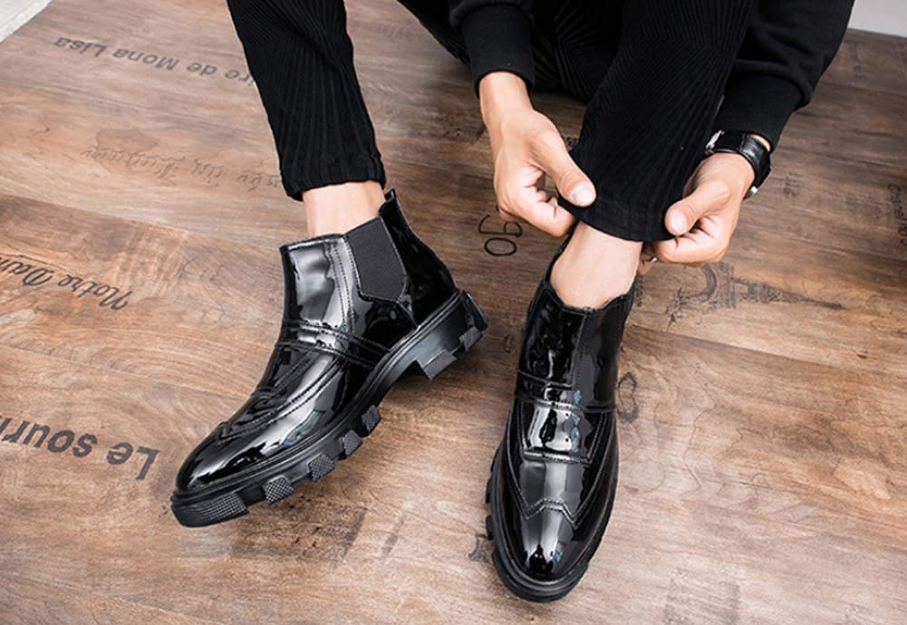 HYLFF HYLFF HYLFF Men Chelsea Ankle Stiefel Pointed Toe Work Stiefel Single schuhe Casual Suits Lazy Stiefel Fashion Leather schuhe Loafers Brogues schuhe schuhe 8eb979