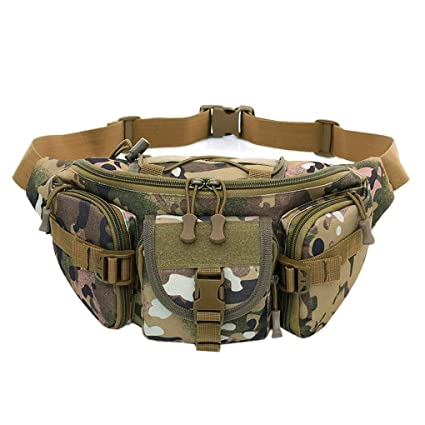 945806c6d476 Amazon.com: Free Knight Tactical Molle Bag Waterproof Waist Fanny ...