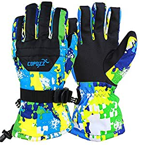 Amazon.com : COPOZZ Waterproof Ski Gloves, Windproof
