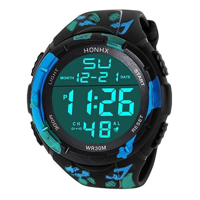 Naturazy-reloje Reloj ElectróNico De Silicona Hombres De Lujo AnalóGico Militar Digital Deporte Led Impermeable Reloj De Pulsera Sports Deportivos Reloje ...