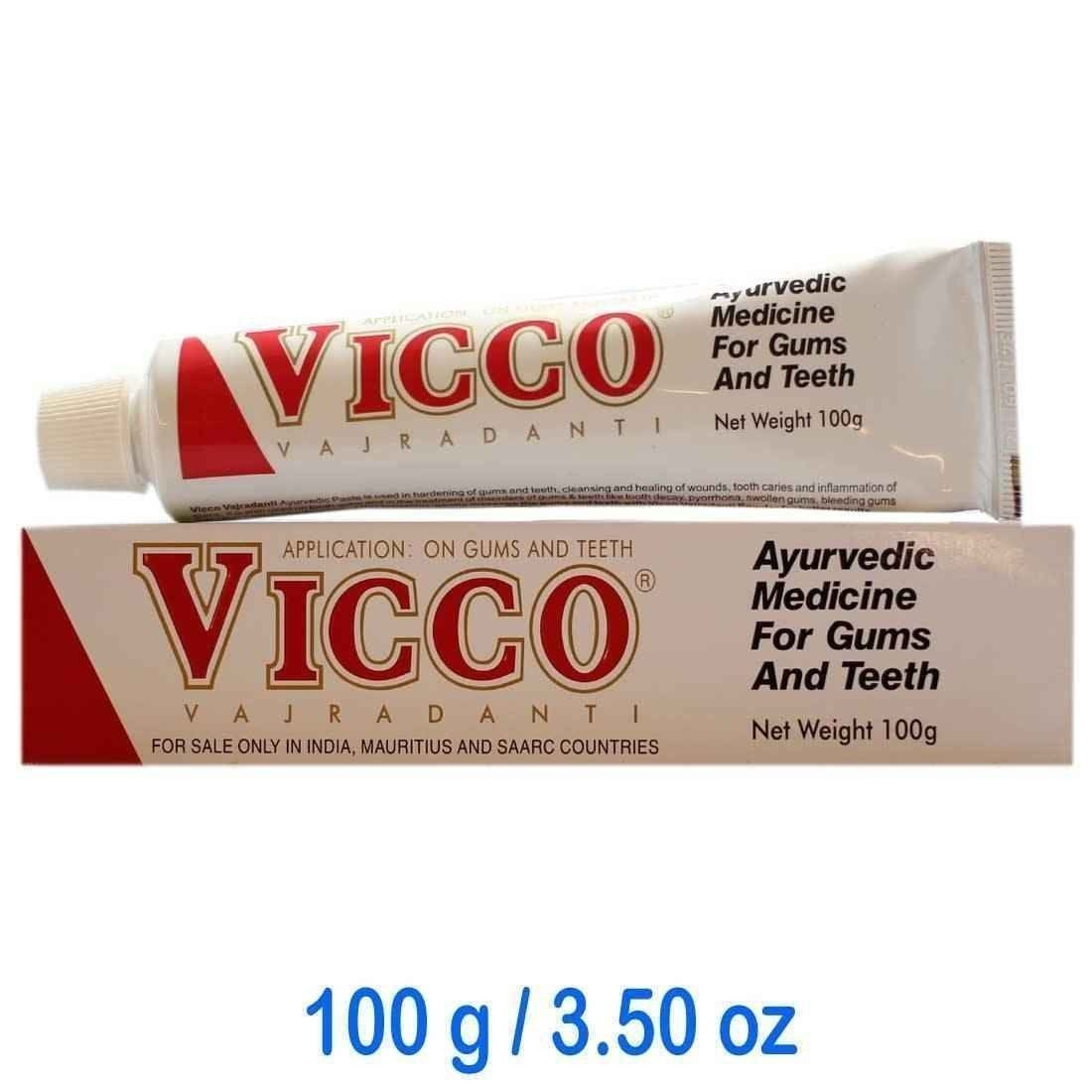 Vicco Vajradanti ToothPaste 100gm Ayurvedic For Gum and Teeth (Pack of 5)