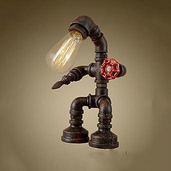 Lily Lampe De Table Industrielle Vintage Lampe De Bureau Rustique En
