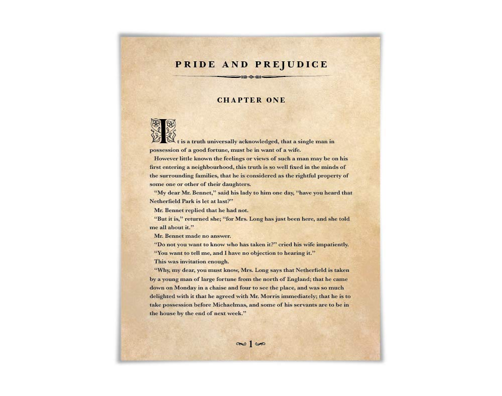 Jane Austen Pride and Prejudice Canvas Tote Book Bag Literary Gift  Out of Print