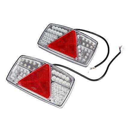 ETUKER 2PCS Pilotos LED Remolque, 10~30V Impermeable Universal ...