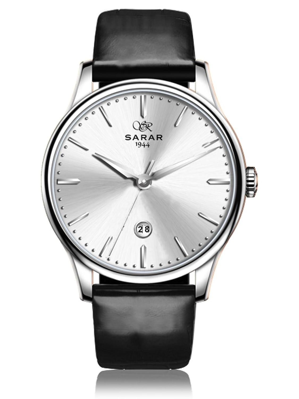 SARAR-TIME Classic-Silver SR-2120 Echtleder