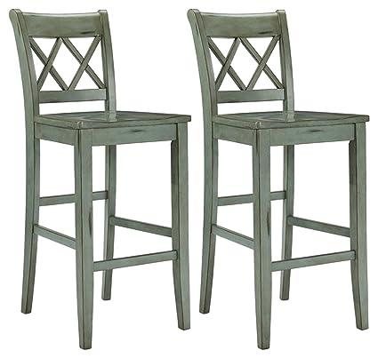 Amazoncom Ashley Furniture Signature Design Mestler Bar Stool