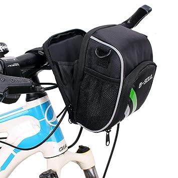 JESSIEKERVIN YY3 Negro Impermeable Bicicleta MTB Manillar Bolsa ...