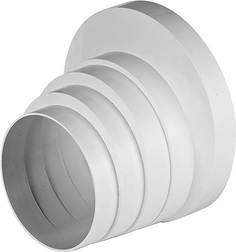 Conector de rosca reductor para tubo de ventilación universal, 100, 110, 120, 125 y 150 mm de diámetro: Amazon.es: Hogar