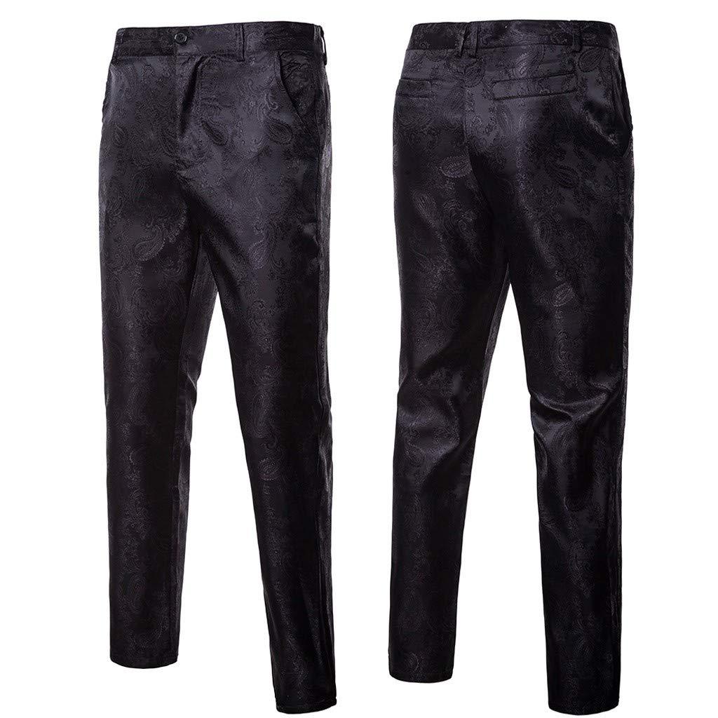 Hombre Pantalones De Vestir Casuales De Corte Slim Pantalones De Fiesta De Boda De Negocios Clasicos Logobeing Pantalon De Traje De Hombre Ropa Lekabobgrill Com