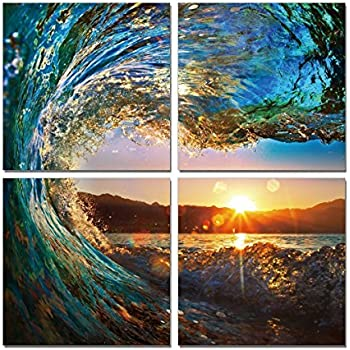 Amazon.com: Natural art - Sea Wave Print Ocean View Art Eagle Eye ...