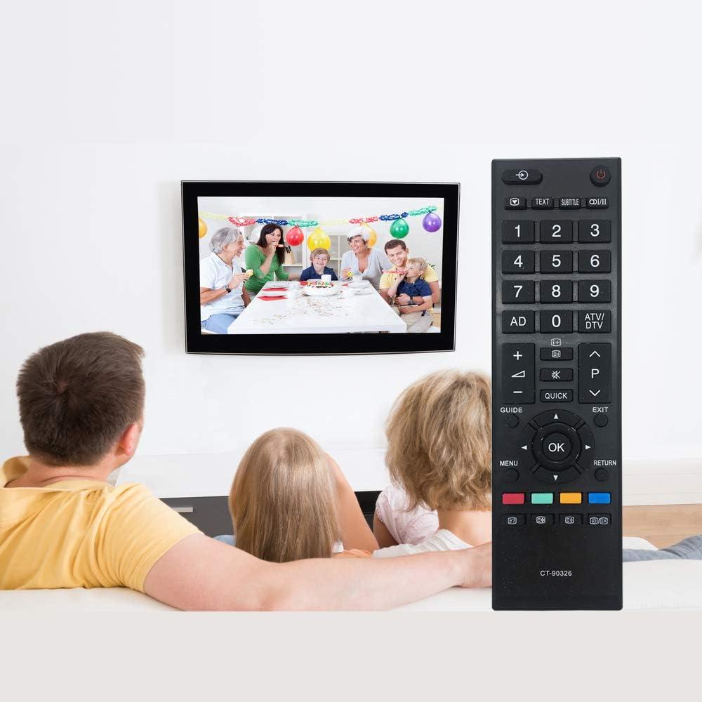 MYHGRC Nuova sostituzione Telecomando Toshiba CT-90326 adatto per la maggior parte dei TV LED LCD Toshiba Nessuna configurazione necessaria TV Telecomando universale 40LV703G1 40LV733F 40LV733N