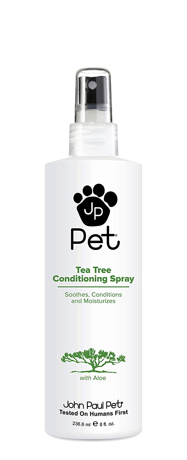 John Paul Pet Tea Tree Conditioning Spray for Dogs and Cats, Soothes and Conditions, 8-Ounce