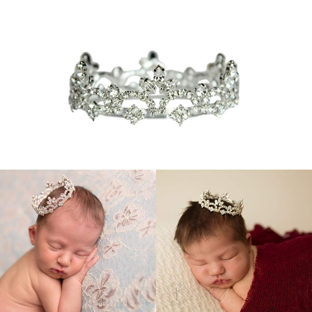 Girls Baby Kid Princess Rhinestone Crown Headband Newborn Tiara Photography Prop