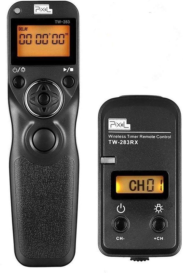 Pixel FSK 2.4GHz LCD Disparador Inalámbrico Temporizador Mandos a Distancia TW283-L1 para Panasonic DMC G3 G5 G6 G7 G10 G70 Gf1 GH2 GH3 GH4 GX7 L1 L10 LC-1 FZ30K FZ50K FZ50S FZ100 FZ150 FZ200 FZ1000