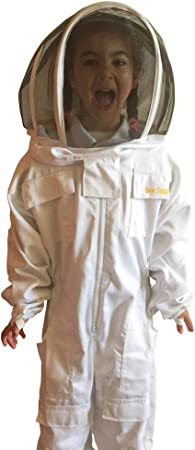 Kids Beekeepers Bee Suit with Fencing Veil Hat FREE GLOVES /& SHIPPING All Sizes