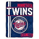 The Northwest Company MLB Minnesota Twins Micro Raschel Throw, One Size, Multicolor