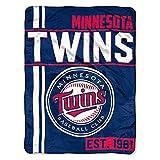 MLB Minnesota Twins Micro Raschel Throw, One Size, Multicolor
