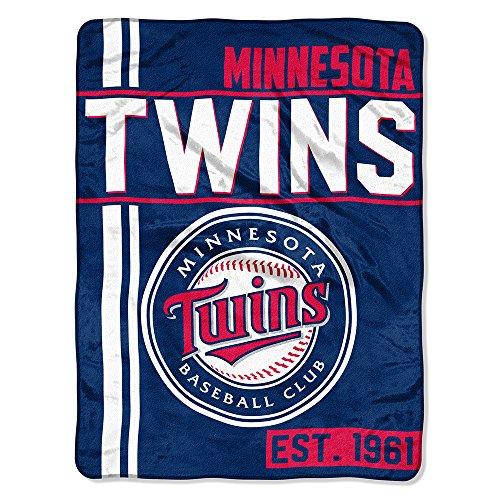 The Northwest Company MLB Minnesota Twins Micro Raschel Throw, One Size, Multicolor