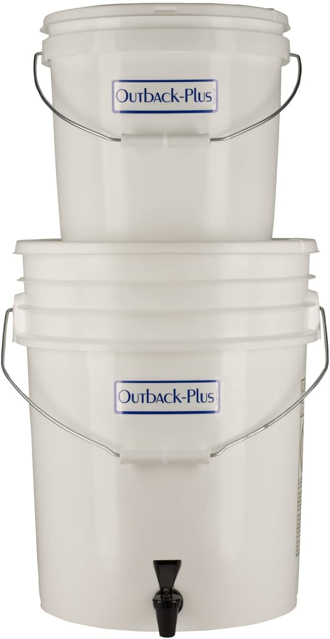 Outback Plus (OB-25NF) Emergency Water Filtration System, Large Gravity Powered Bucket Filter, 6-12 Gallons Per Day For Family or Small Groups