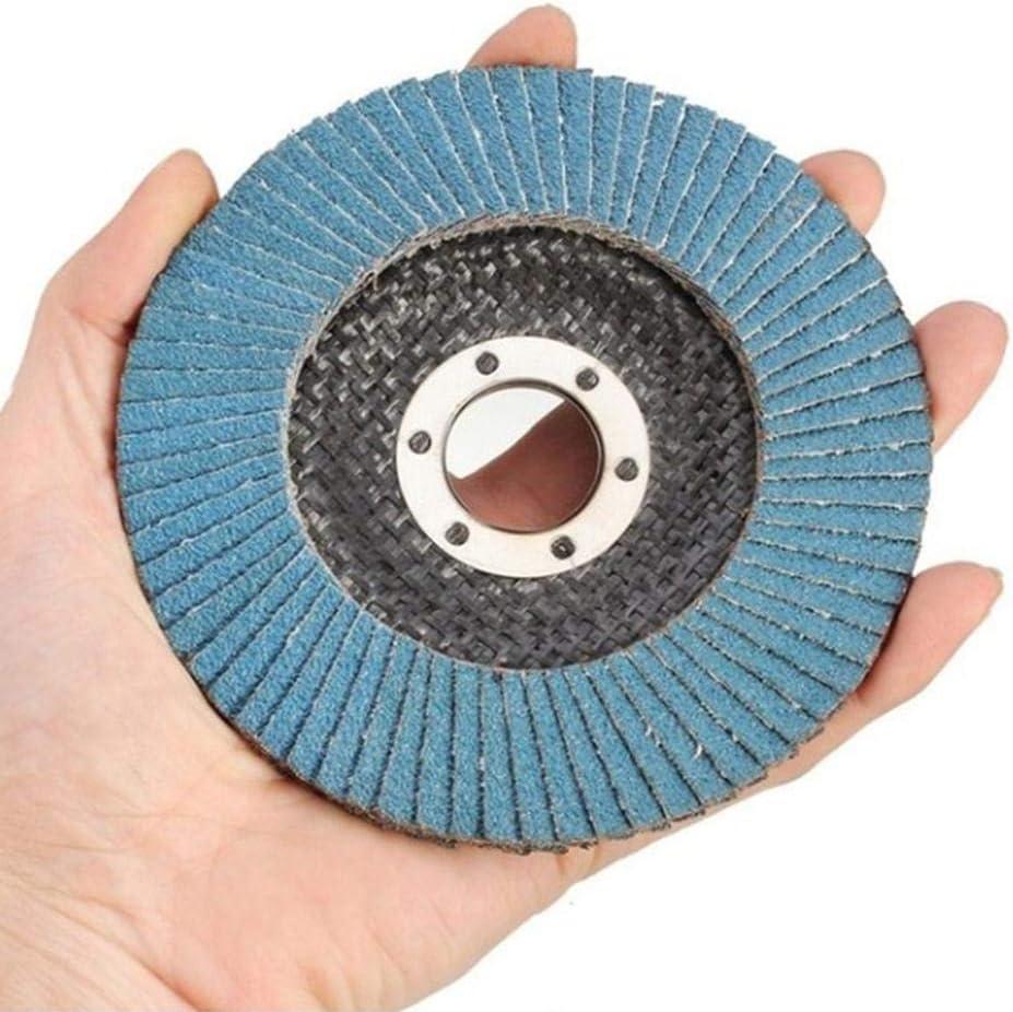 Discos de Lijado para lijar Limpieza Inoxidable 4.5 40 Grift 60 Grift 80 Grift 120 Grift Haodene 10 Piezas Discos de Lija Disco abrasivo 115 mm