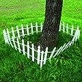 Giantex 12 FT Garden Fence Outdoor Patio Lawn Fencing Outdoor Low Garden Border Edging Fences, White