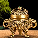 Fine Copper,Antique,Kowloon,Incense Burner,/Home,Three Feet,Sandalwood Furnace,Household,Aroma Stove